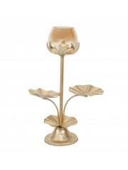 LOTUS  LEAFY BIG STAND WITH BIG PG GLASS