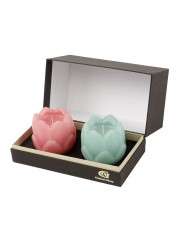PINK GREEN SET OF 2 CANDLE