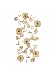 Flower Art Metal 6 Multi Pal Gold Wall Decor