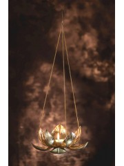 LOTUS BIG GOLD SET OF 3 HANGING TEA LIGHT