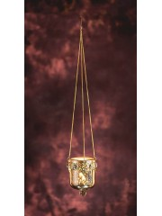 BELL HANGING GOLD T-LIGHT HOLDER