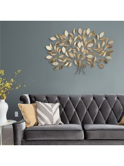 Metal Leaf Mosaic Wall Tree