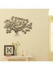 Art Metal Leaf Tree Mosaic Brown Wall Decor