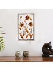 Metal Dahlia Rectangular Wall Frame